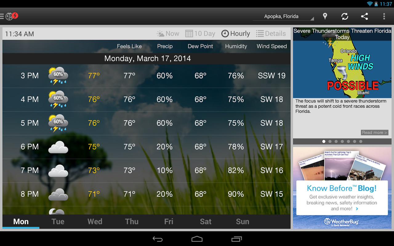 WeatherBug APK Free Weather Android App download