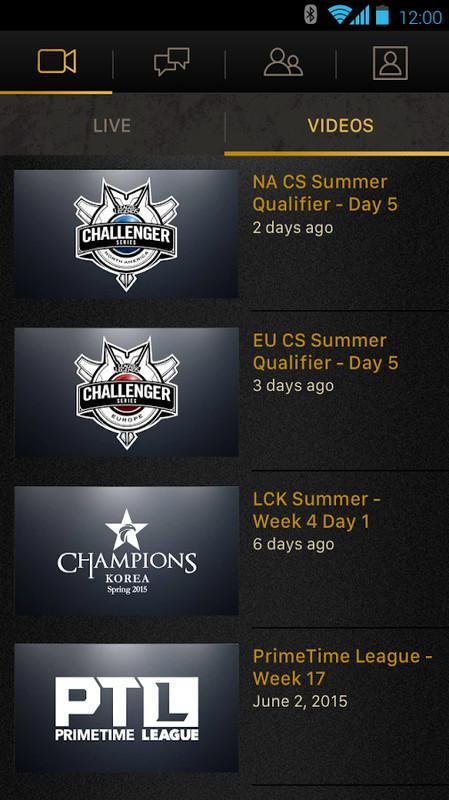 Tournament league of legends live chat
