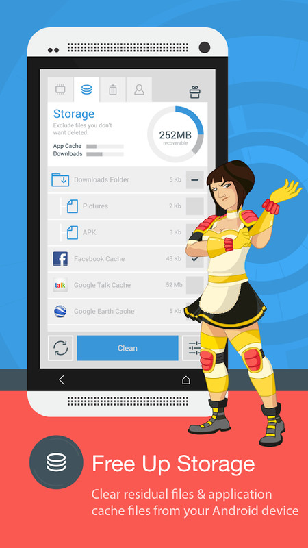 The Cleaner - Speed up & Clean APK Free Tools Android App download ...