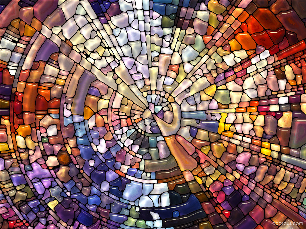 Stained glass mosaic wallpaper download stained glass hd for Mosaic wallpaper for walls