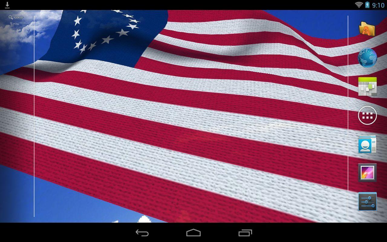 3d Us Flag Live Wallpaper Free Android Live Wallpaper Download
