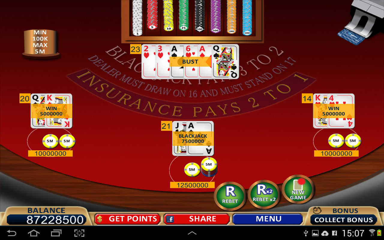 Online blackjack gambling for money