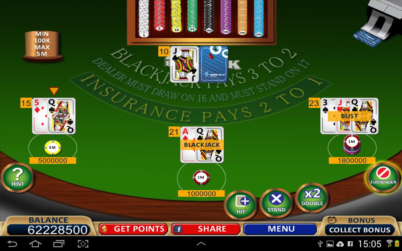 Blackjack 7 cards