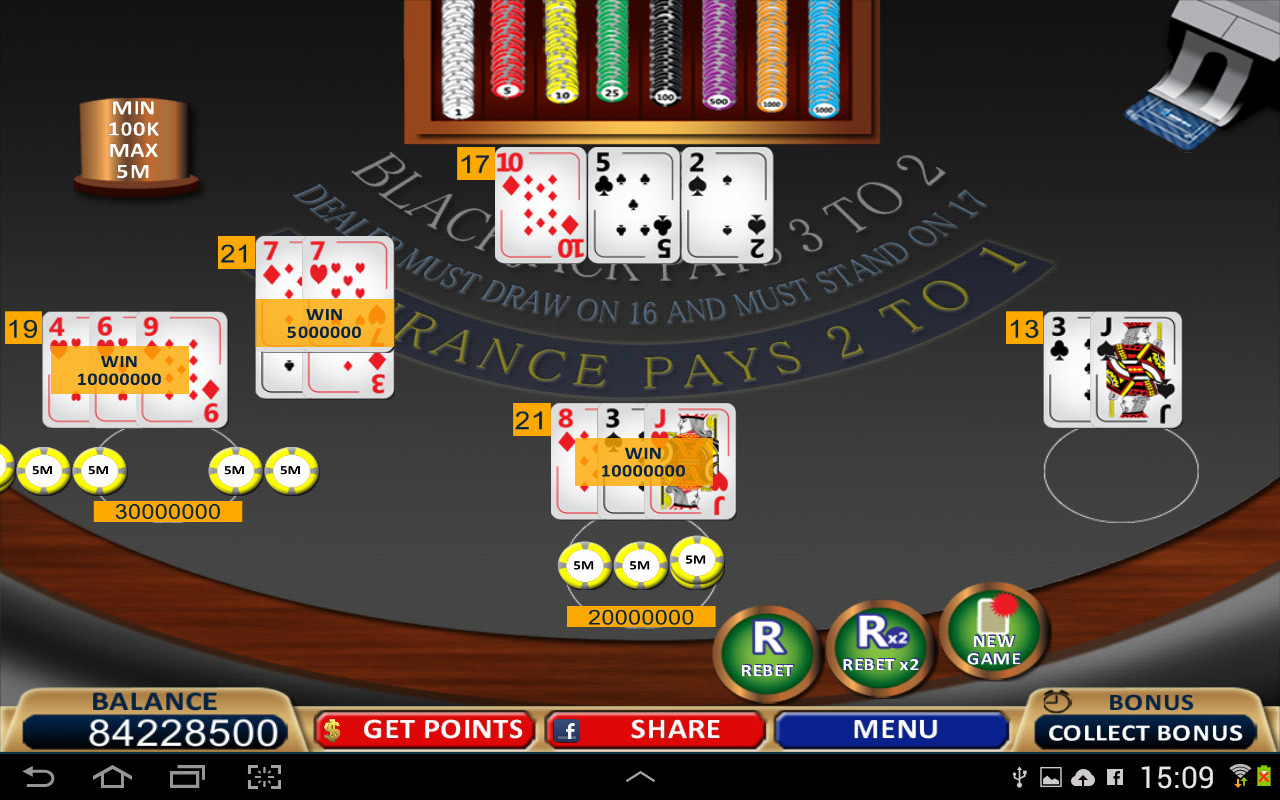 free card games blackjack 21 download