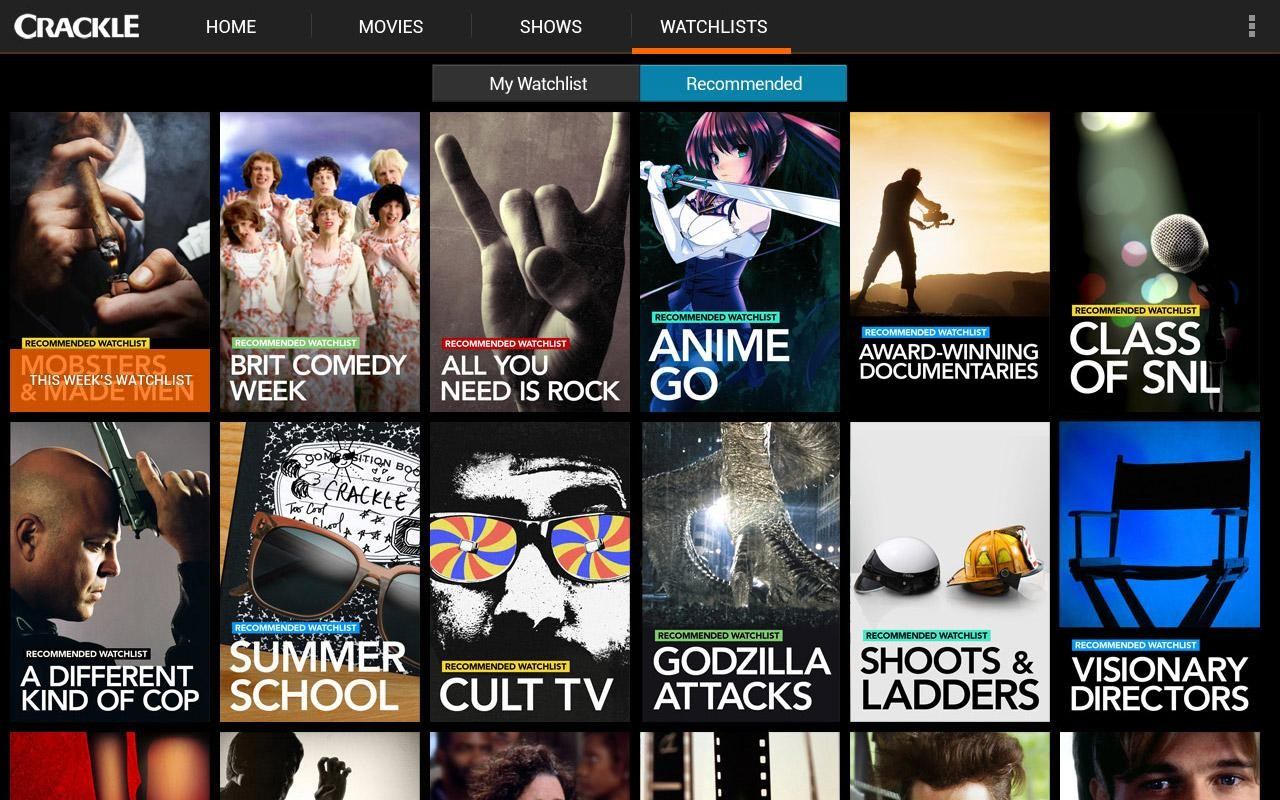 Sony Crackle - Free Movies & TV (Android TV)   APK ...