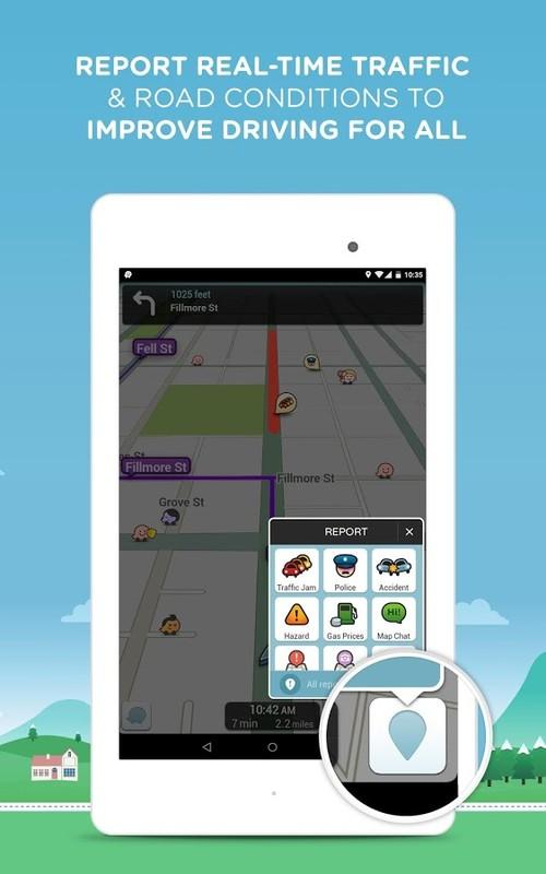 Waze Social GPS Maps & Traffic APK Free Android App download