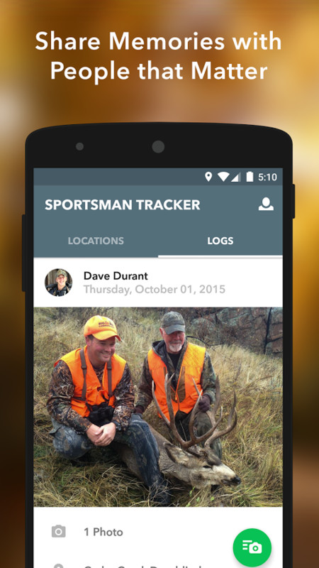 Sportsman tracker hunt fish apk free android app for Hunting and fishing apps