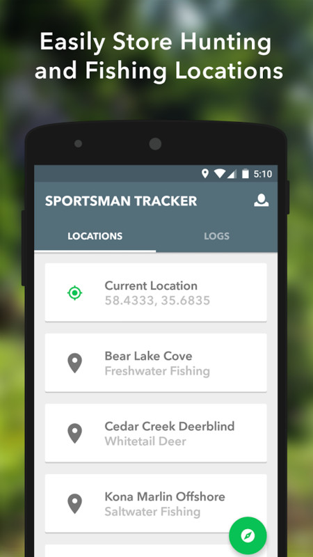 Sportsman tracker hunt fish apk free android app for Best fishing apps for android
