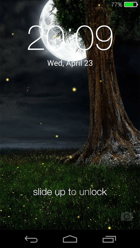 Fireflies Lockscreen Free Android Theme Download Appraw