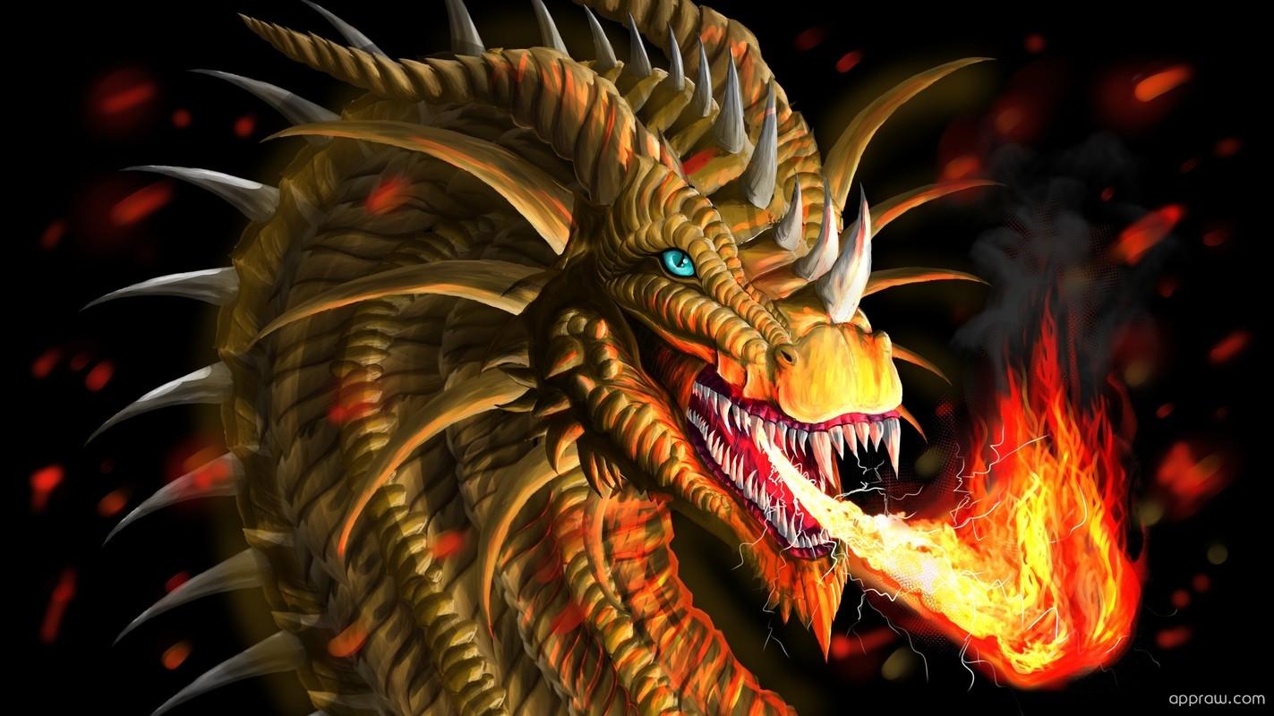 Dragon Breathing Fire Wallpaper download - Dragon HD ...