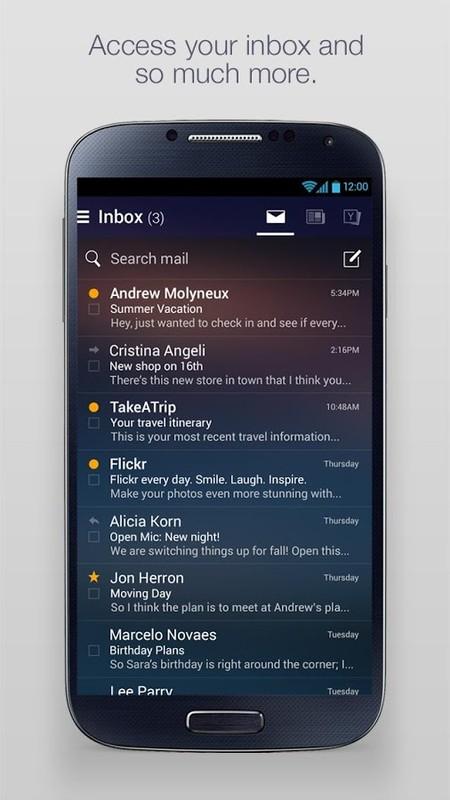 Yahoo Mail Login App Tablet