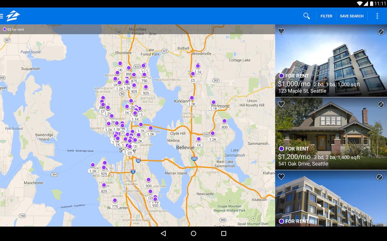 Zillow rentals houses apts apk free android app for Zillow rentals com