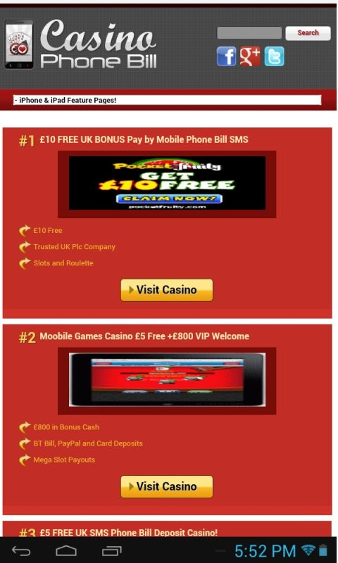 Mobile Casino Games You Can Pay By Phone Bill