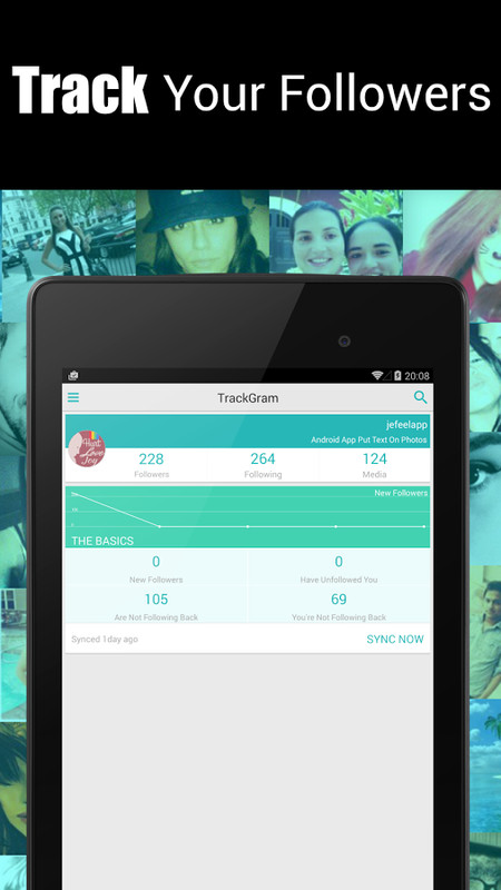 TrackGram: Instagram Followers APK Free Social Android App download