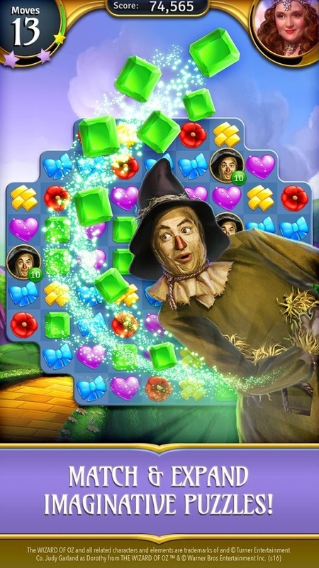 free play wizard of oz match game
