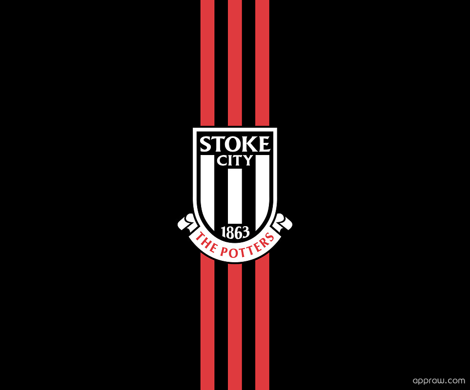 Stoke City FC Black & Red Wallpaper Download