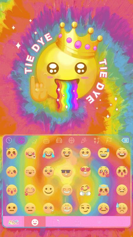 Tie Dye Themefor Kika Keyboard Free Android Keyboard download - Appraw