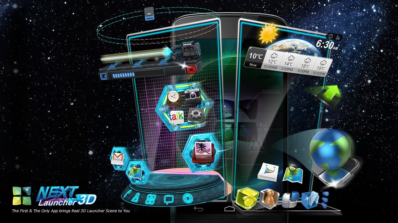 next launcher 3d gratis