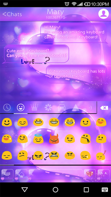 Love Is Emoji Keyboard Theme Free Android Keyboard download - Appraw