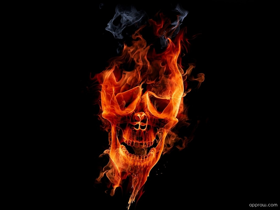 Flame Skull Wallpaper Download Black Hd Wallpaper Appraw