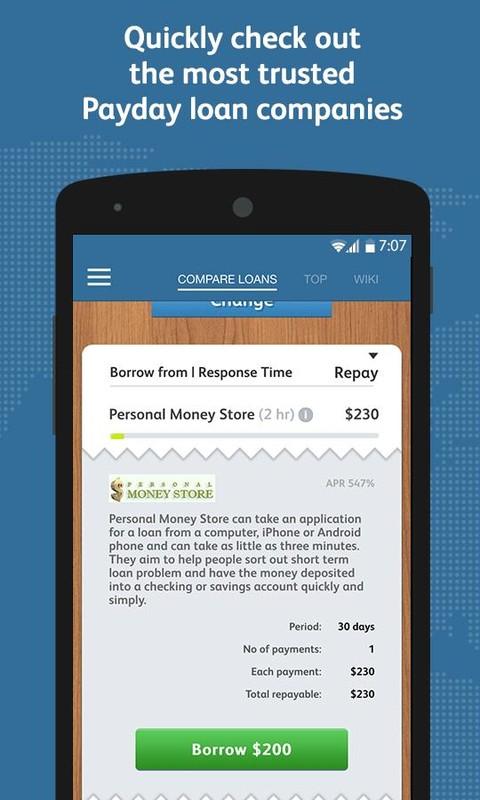 payday loan phone app