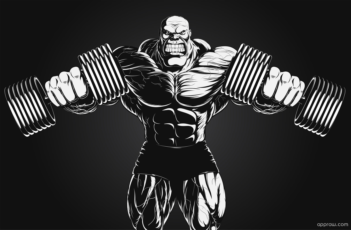By Danieldinosaur; Bodybuilding Illustration