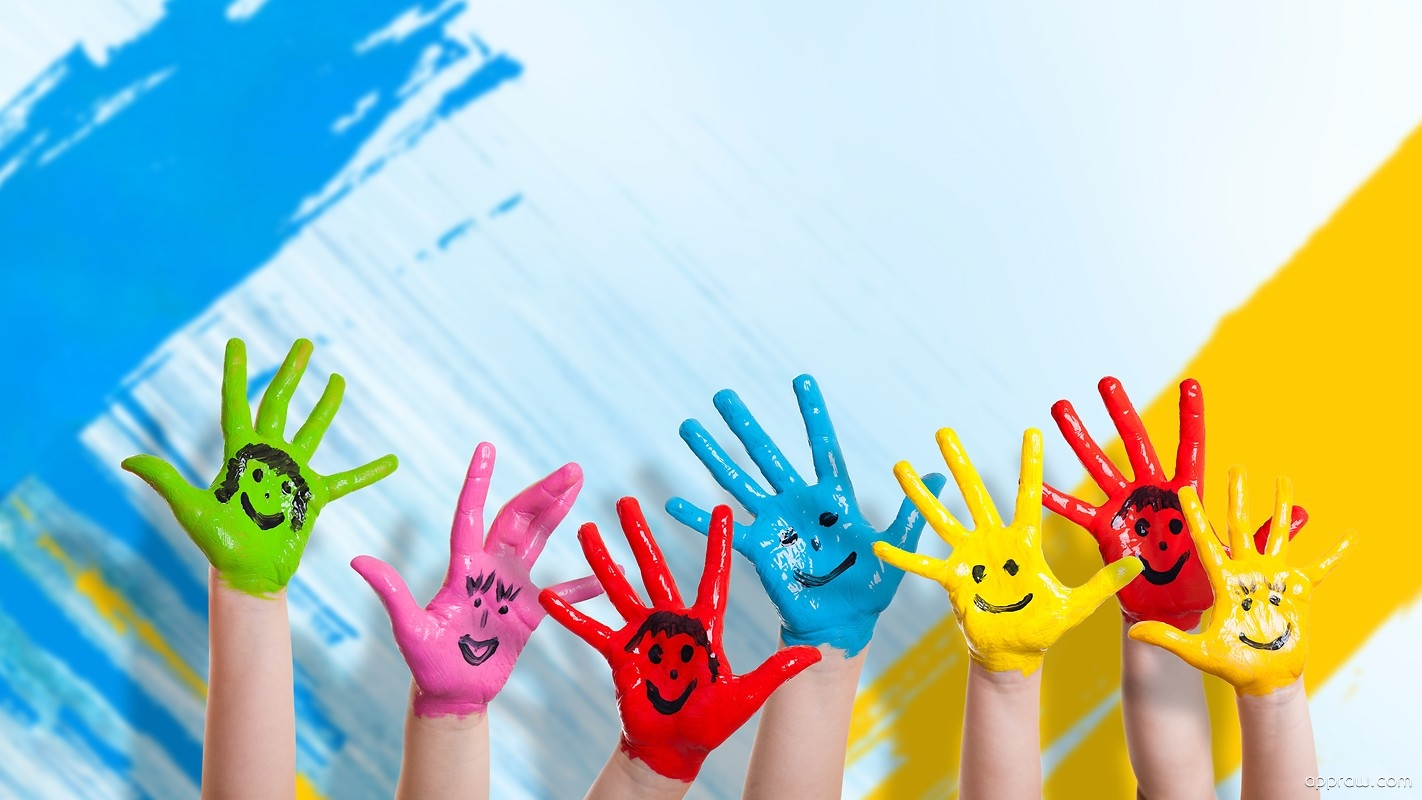 Kids Hand Painting Wallpaper download - Kids HD Wallpaper - Appraw