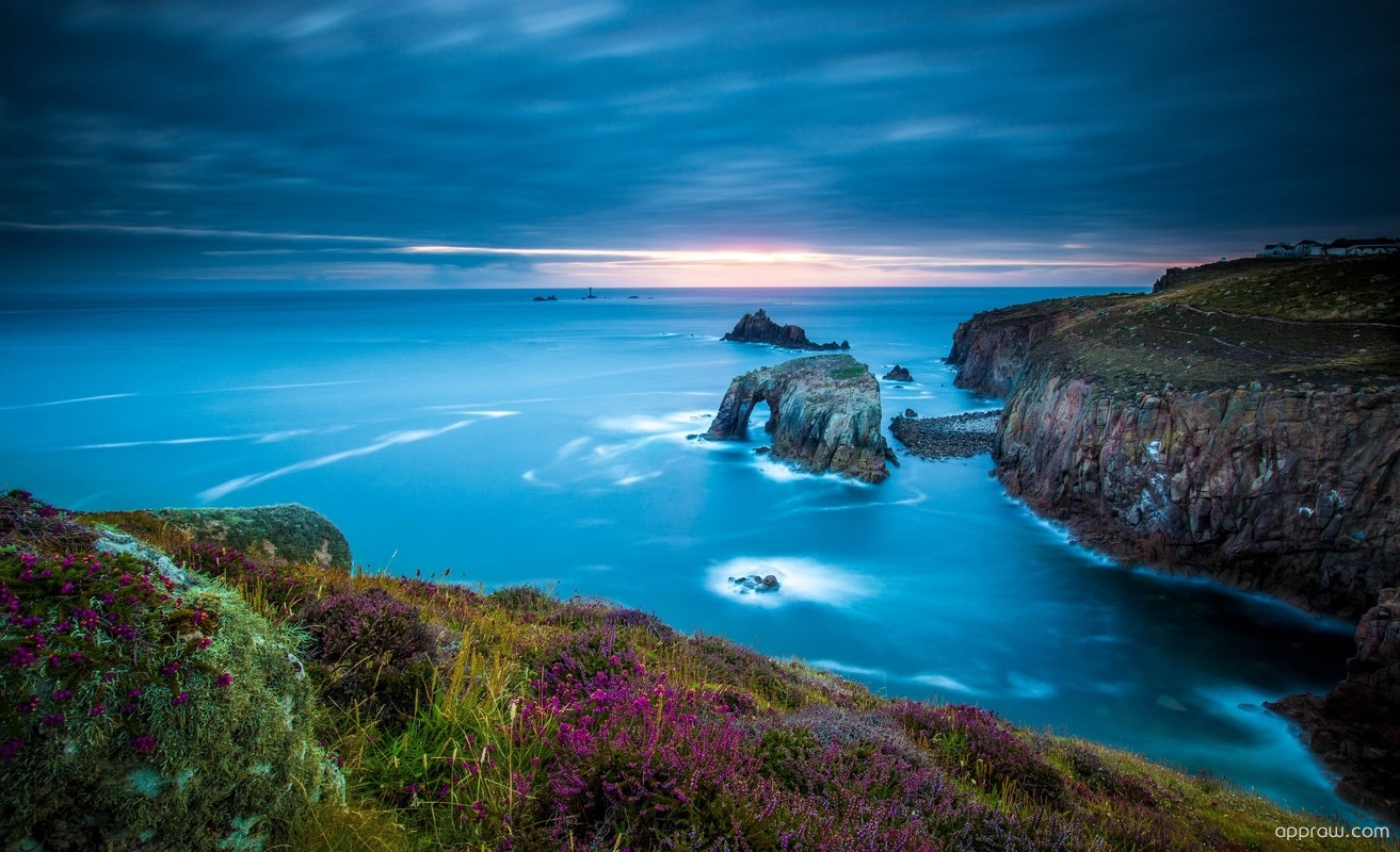 Land S End Cornwall England Wallpaper Download Lands