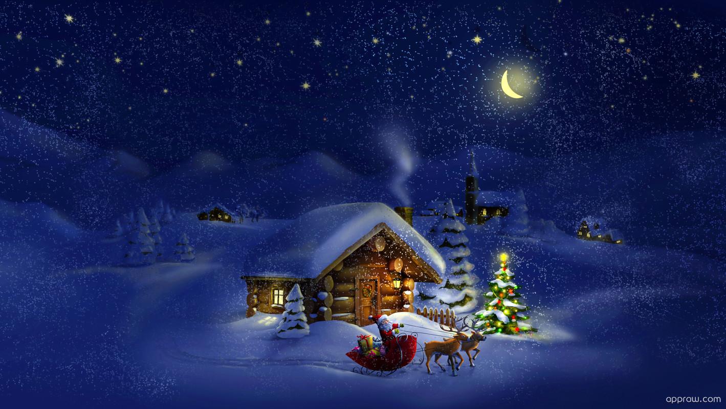 Santa claus log cabin wallpaper download santa hd wallpaper appraw