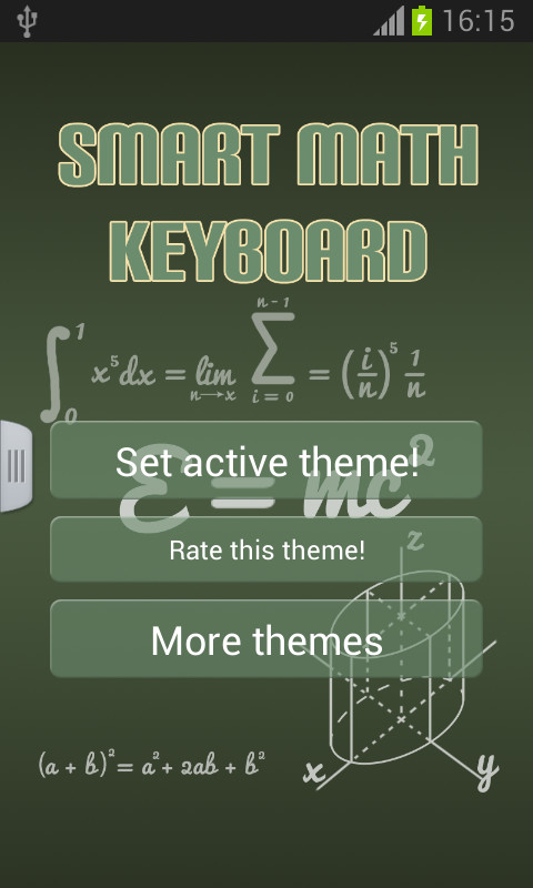 math keyboard android