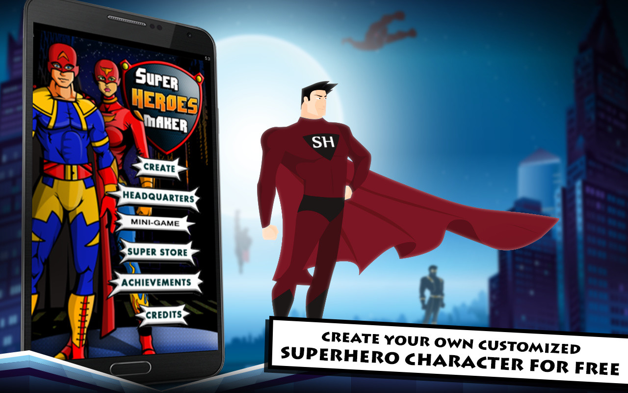 Superhero maker apk free role playing android game for Home creator online