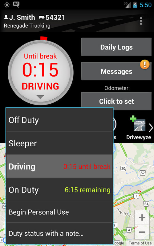 driver daily log app free download