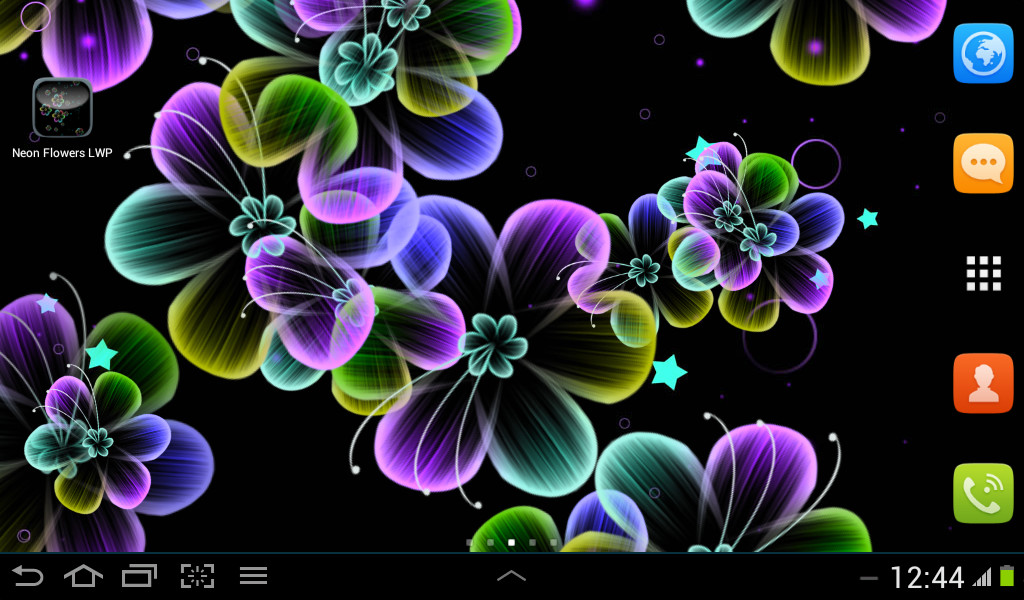Neon Flowers Live Wallpaper Free Android Live Wallpaper