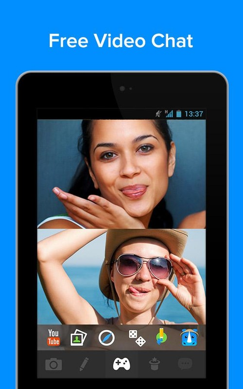 rounds video chat call text apk free android app. Black Bedroom Furniture Sets. Home Design Ideas