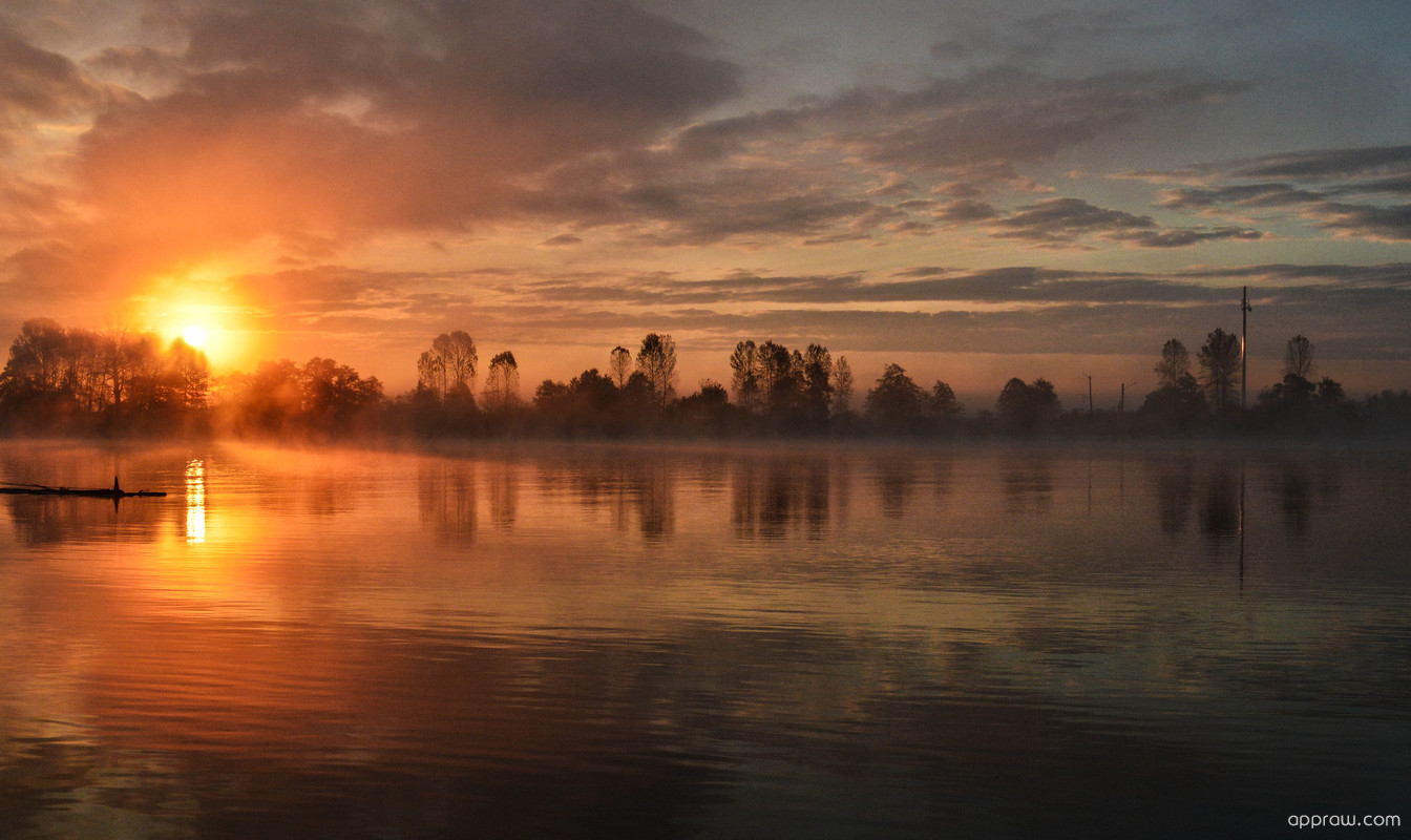 Glorious Sunrise On The Lake wallpaper nature and landscape