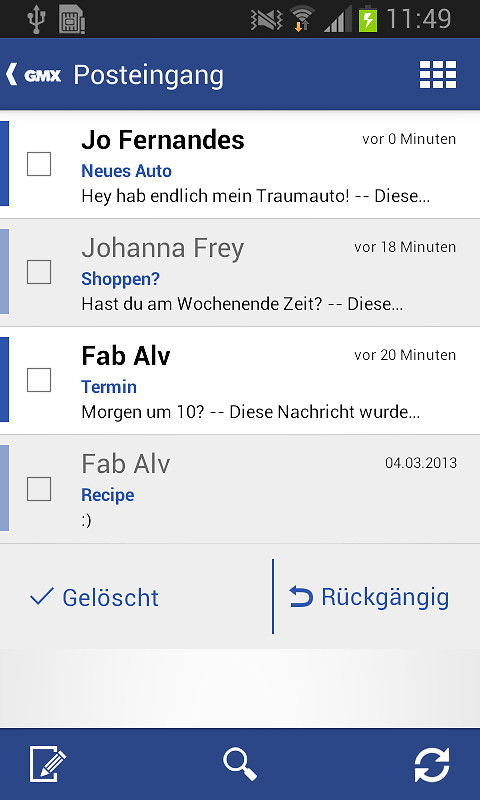 Gmx mail app android