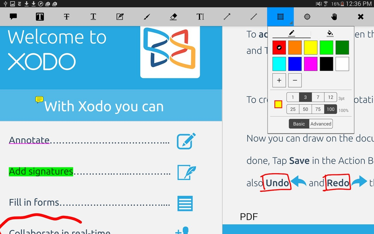 xodo pdf reader and editor app download