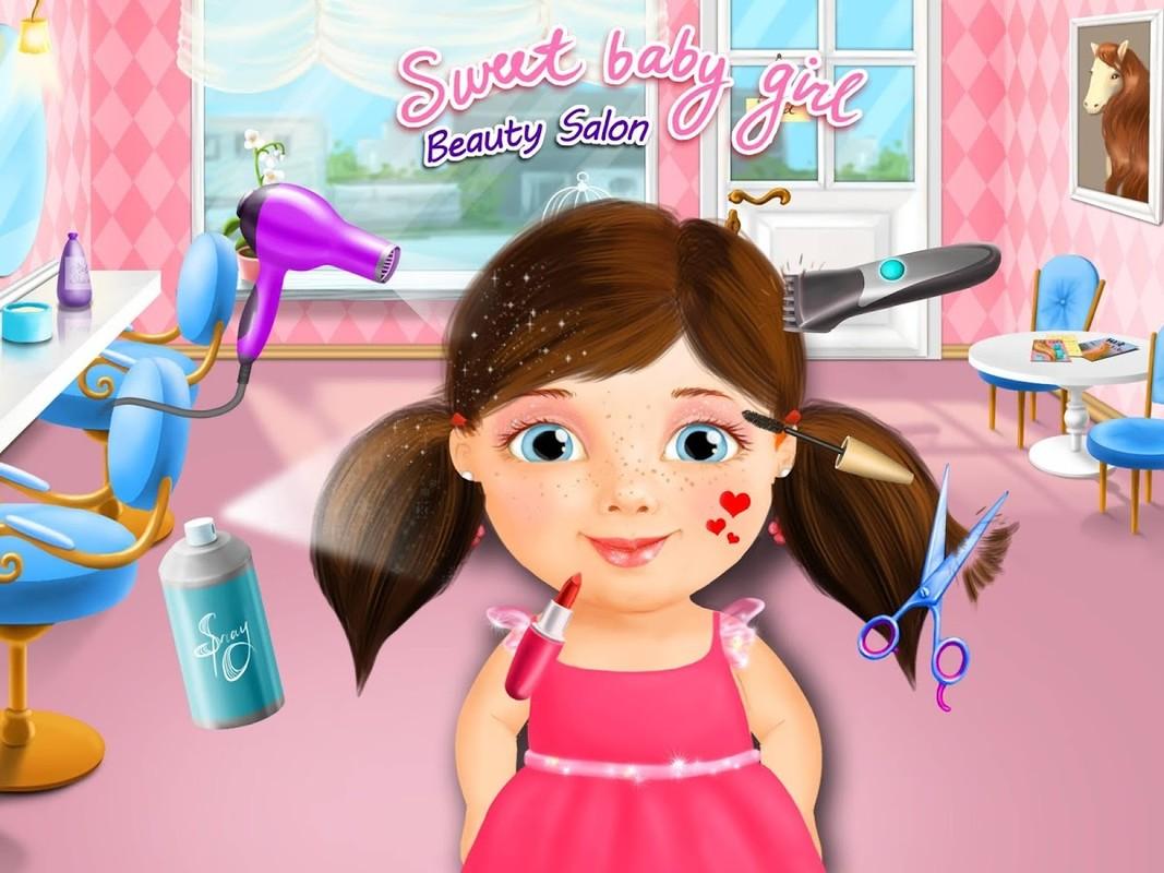 Girl Fashion Baby Makeup Nails Hair Games
