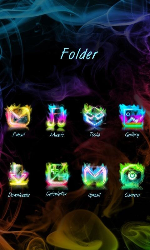 Smoke Colors GO Launcher Theme Free Android Theme download