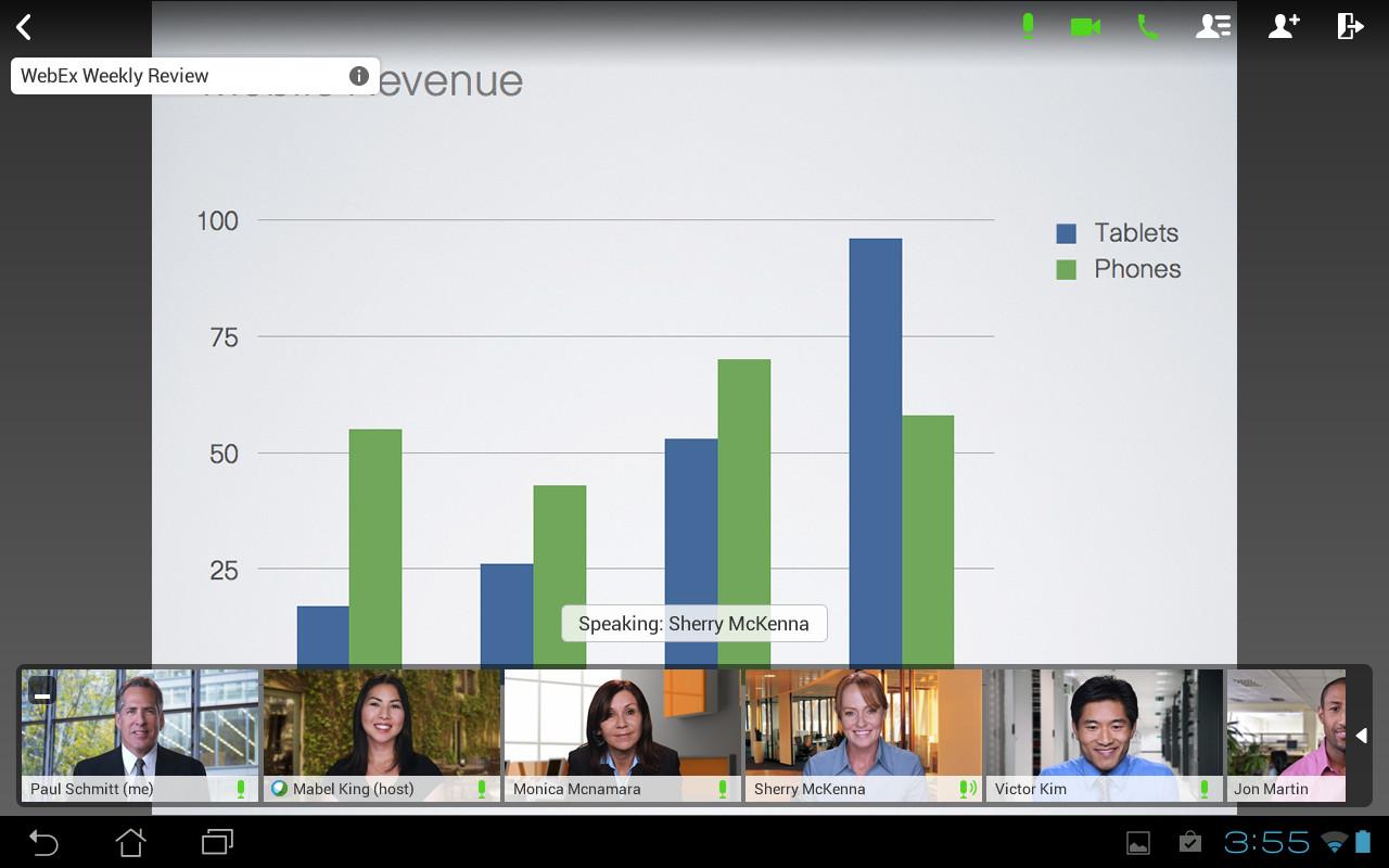 Cisco WebEx Meetings Screenshot ...