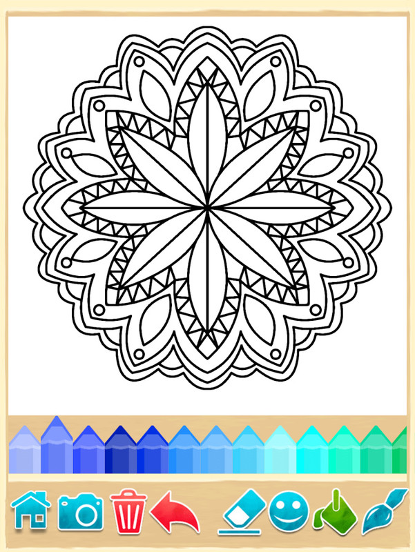 mandala coloring pages apk free casual android game. Black Bedroom Furniture Sets. Home Design Ideas