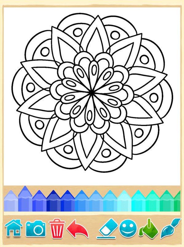 Mandala coloring pages apk free casual android game Coloring book for adults android