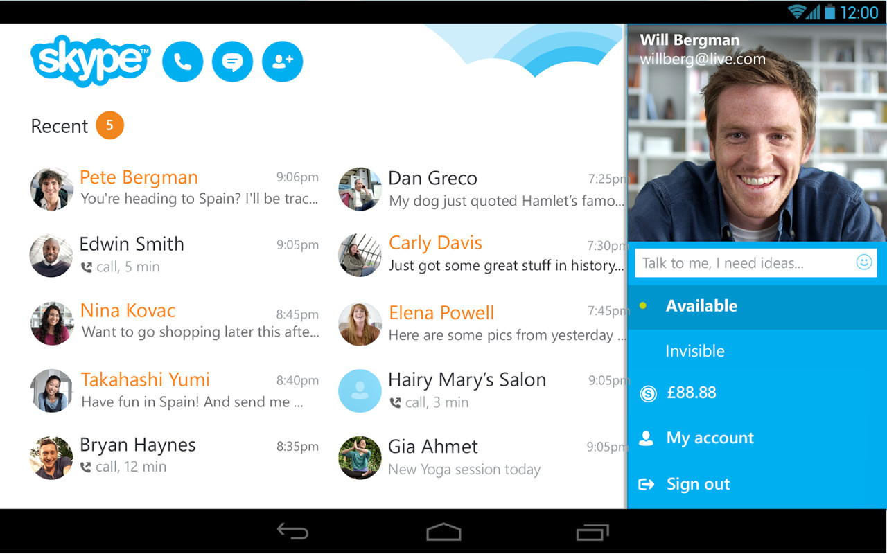 Skype - Free IM & Video Calls APK Free Android App ...