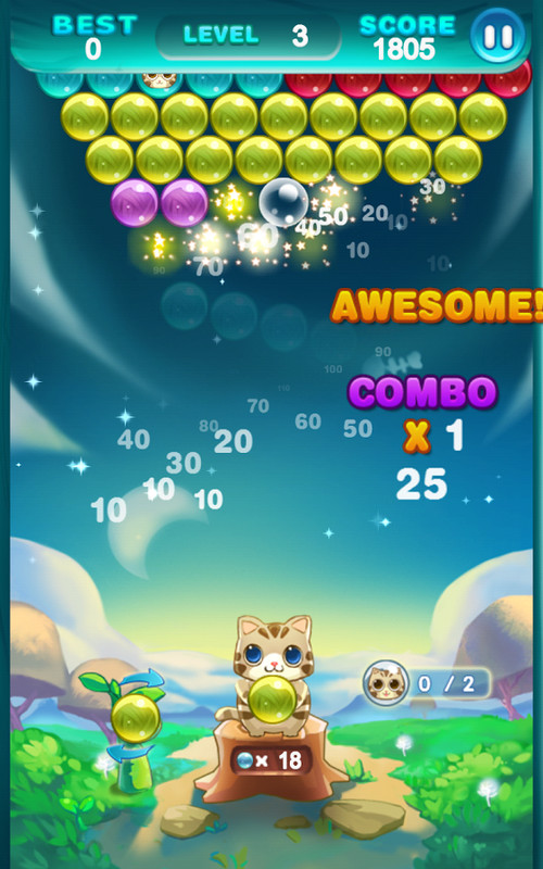 Bubble Cat Rescue Game Free Download