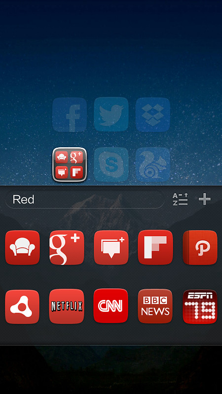 GO Launcher EX UI5.0 theme Free Android Theme download ...