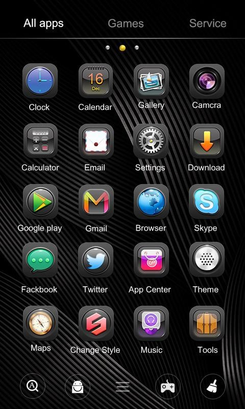 Dark GO Launcher Theme Free Android Theme download - Appraw