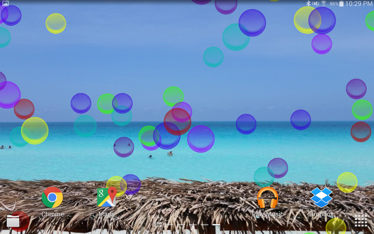 Bright Bubbles Live Wallpaper