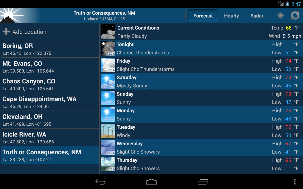 noaa weather unofficial apk free weather android app