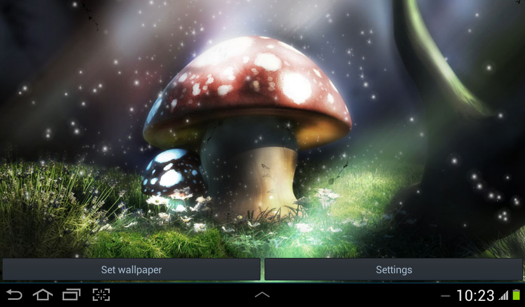 3d live wallpaper mushroom free android live wallpaper - Mushroom 3d wallpaper free download ...