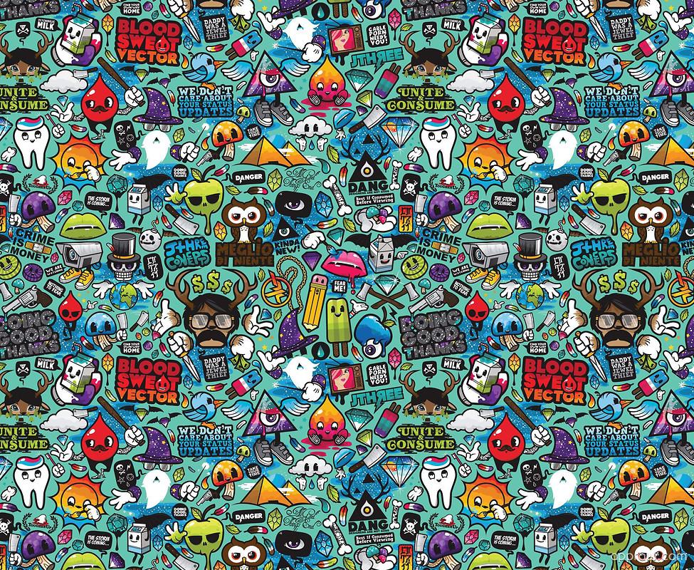 Doodle Collage Wallpaper Download Doodle Hd Wallpaper